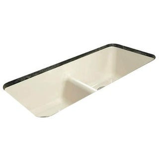 "Miseno MCI44-0UM-LD 43"" Cast Iron Double Basin Kitchen Sink for Undermount Insta"