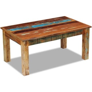 "vidaXL Coffee Table Solid Reclaimed Wood 39.4""x23.6""x17.7"""