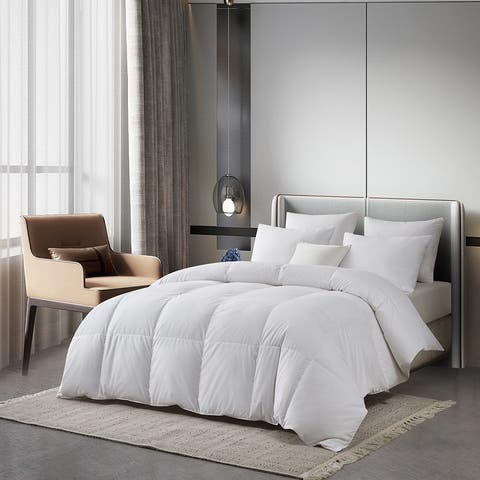 Serta Tencel Cotton Blend European White Down Comforter