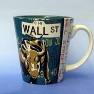Pack of 6 Decorative New York City Icon Wall Street Ceramic Drinking Mugs