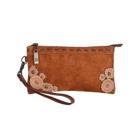 """StS Ranchwear Western Wallet Womens Sheridan Clutch Brown - 9"""" W x 5"""" H x .5""""D"""