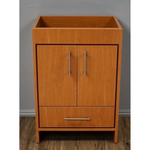 Volpa USA Pacific 24-inch Honey Maple Freestanding Bathroom Cabinet