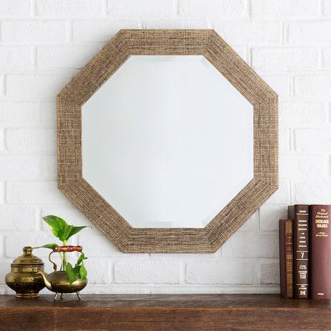 """Angline Crosshatch Wall Mirror (24 x 24) - 24"""" x 24"""""""