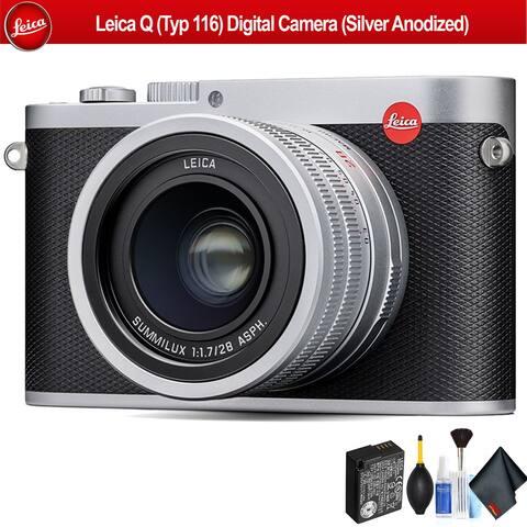 Leica Q (Typ 116) Digital Camera (Silver Anodized) - Bundle