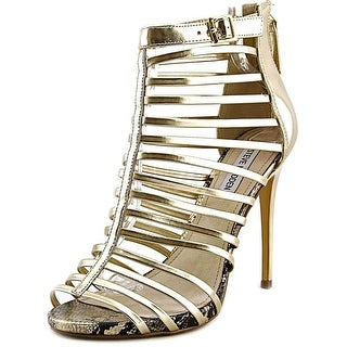 Steve Madden Marnee Women Open Toe Synthetic Gold Sandals