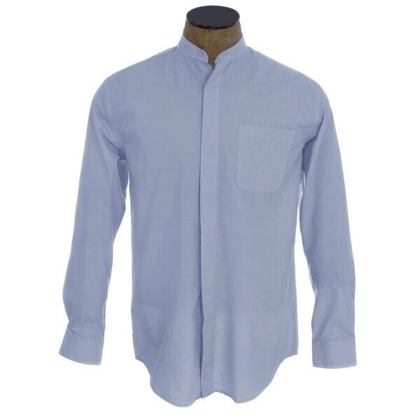 Dioufond Mens Slim Fit Long Sleeve Oxford Dress Shirt