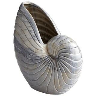 "Cyan Design 8700 Rippled Shell 17"" Tall Ceramic Oceanic Vase"