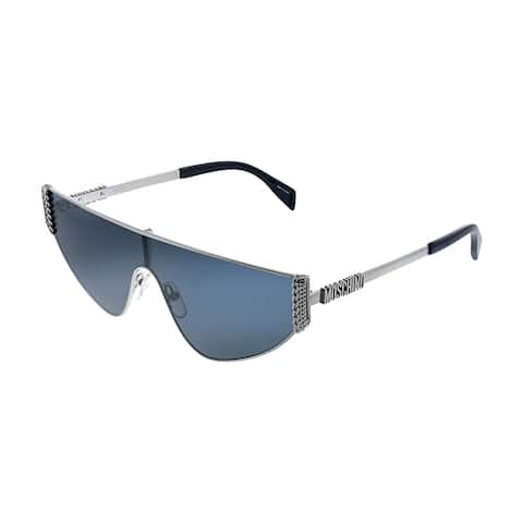 Moschino MOS 022S 6LB IR Womens Ruthenium Frame Grey Lens Sunglasses