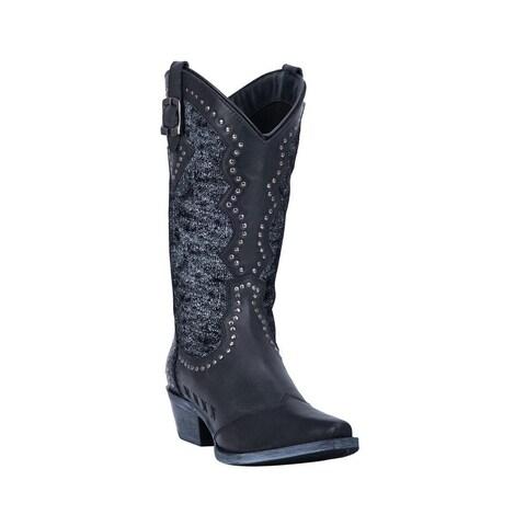 "Laredo Western Boots Womens Harloe Snip Toe 11"" Shaft Black"