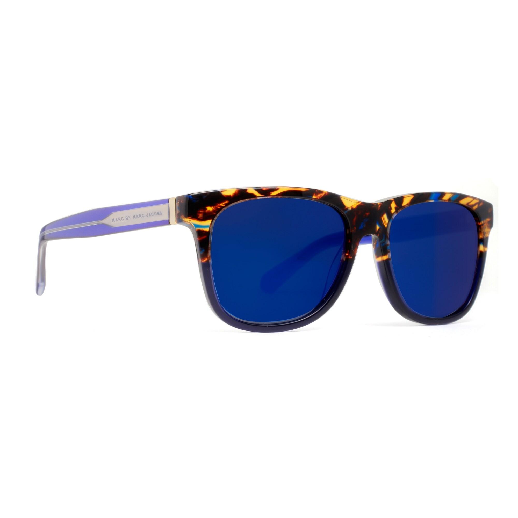 b1cf7dbe19a9 Shop Marc by Marc Jacobs MMJ 360/N/S LJX 1G Havana Brown/Blue Mirrored  Sunglasses - Havana Brown - 54mm-17mm-140mm - Free Shipping Today -  Overstock - ...