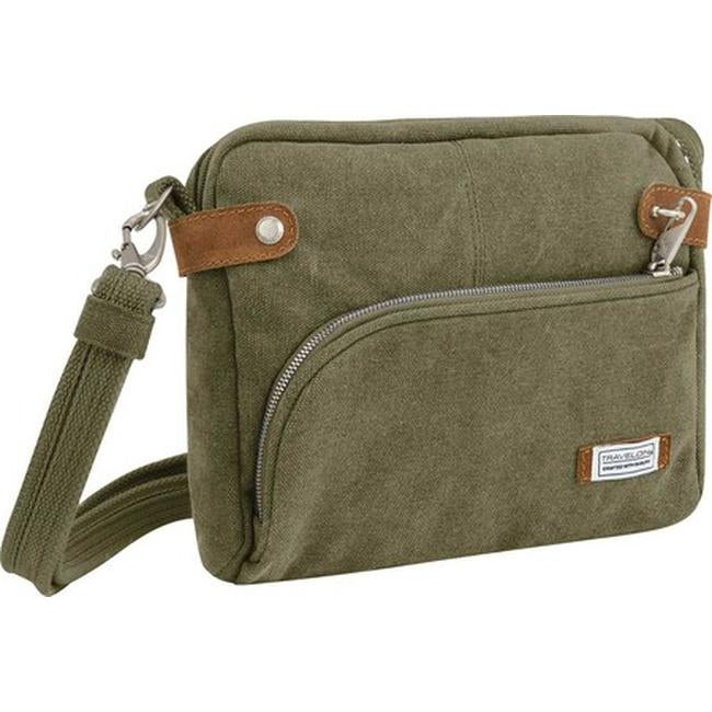 One Size Travelon Anti-Theft Heritage Tour Bag Travel Cross-Body Sage