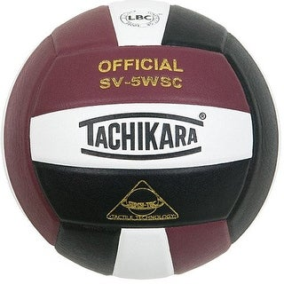 Tachikara Sensi-Tec Composite Leather Volleyball (Cardinal Red/White/Black)