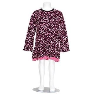 Danica and Dylan Toddler Girl Black Pink Animal Print Dress 2T