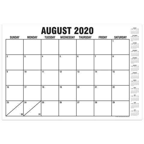 """B&W Basic Academic Calendar with Previews, August-July, 13"""" x 19"""" - One Size"""