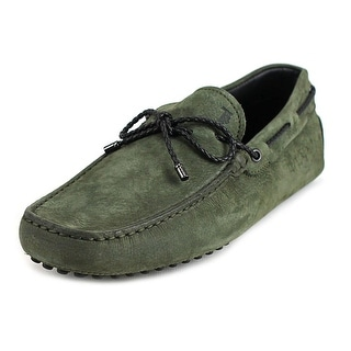 Tod's Laccetto My Colors New Gommini 122 Women Suede Green Moccasins