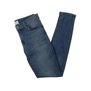 Hudson Womens Krista Ankle Jeans Baked Creases Super Skinny