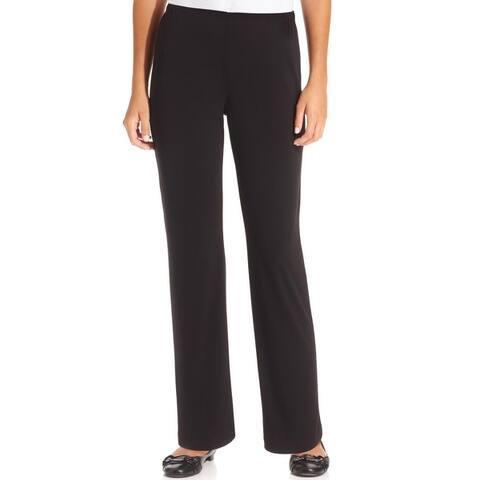NY Collection Womens Petites Replen Wide Leg Pants Matte Jersey Office Wear