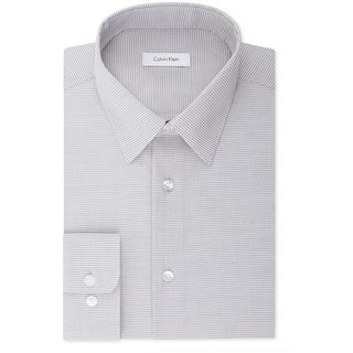 """Link to Calvin Klein Mens Non-Iron Performance Button Up Dress Shirt, grey, 17.5"""" Neck 36""""-37"""" Sleeve - 17.5"""" Neck 36""""-37"""" Sleeve Similar Items in Shirts"""