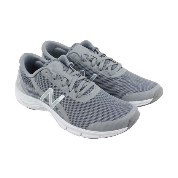 New Balance Entrainment Womens Gray Mesh Athletic Lace Up Training Shoes