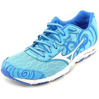 Mizuno Wave Hitogami 2 Women Round Toe Synthetic Blue Running Shoe