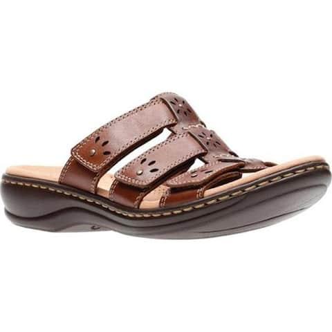 0a135319d6e Clarks Women s Leisa Spring Strappy Sandal Brown Mult Full Grain Leather