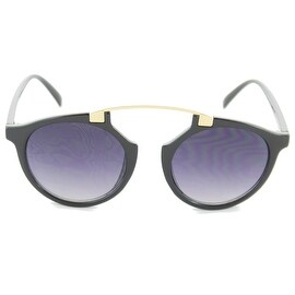 Women Ladies Sunglasses Wayfarer Clubmaster Bridgeless Cat Eye, Black Smoke