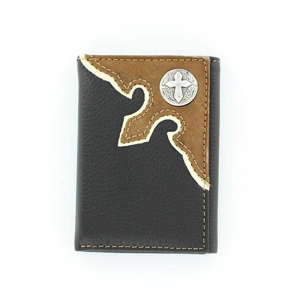 Nocona Western Wallet Classic Mens Trifold Cross Conchos - One size
