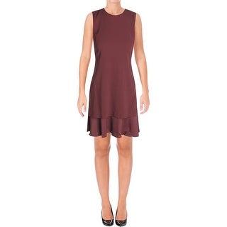 Theory Womens Malkan Wear to Work Dress Sateen Sleeveless
