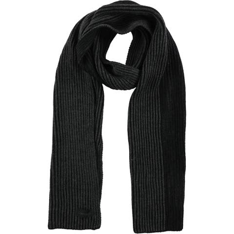 Calvin Klein Mens Colorblock Scarf, black, One Size - One Size
