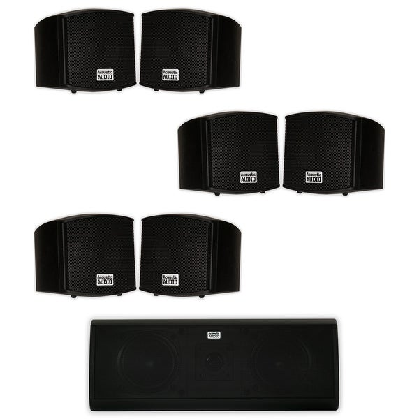 Acoustic Audio AA321B and AA40CB Indoor Speakers Home Theater 7 Speaker Set