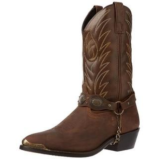 Laredo Mens Tallahassee Harness Detail Stitching Cowboy, Western Boots
