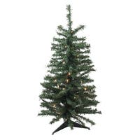 3' Pre-Lit Canadian Pine Artificial Christmas Tree - Clear Lights