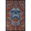 Handmade 100% Cotton 3D Mindful Skull Tapestry Tablecloth Beach Sheet 60x90 - Thumbnail 0