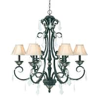 Dolan Designs 2100-148 6-Light Up Lighting Chandelier from the Florence Collection - phoenix - n/a