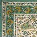 Handmade Rajasthan Paisley Floral Block Print Tablecloth 100% Cotton Rectangle Square Round - Thumbnail 0