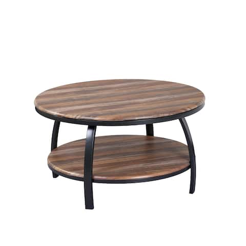 Carbon Loft Wolfe Wood Round Coffee Table