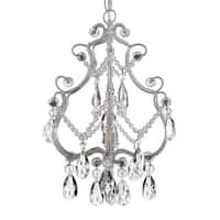 """Harrison Lane SCL-01489CW Single Light 9"""" Wide Single Tier Crystal Chandelier with Hanging Accents"""