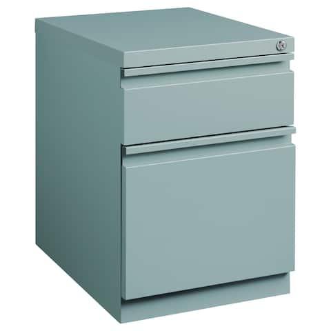 Hirsh 20-in Deep Mobile Pedestal File 2-Drawer Box/File, Platinum
