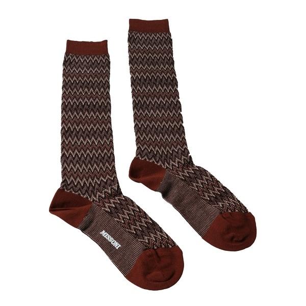 Missoni GM00CMD4597 0005 Rust/Black Boot Socks - M