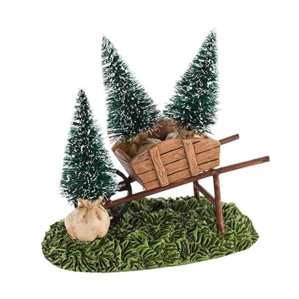 "Department 56 Snow Village ""My Garden Wheelbarrow"" Accessory #4030918 - green"