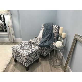 Shop Homepop Blue Slate Large Accent Chair On Sale