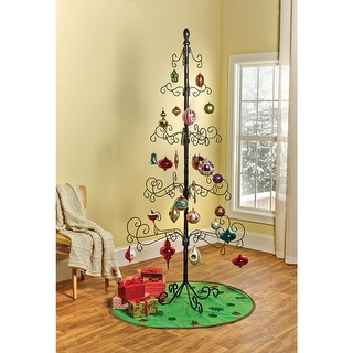 Wrought Iron Chirstmas Ornament Display Tree - 83""