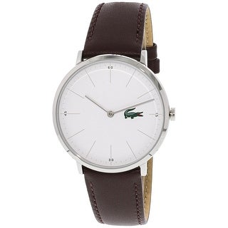 Lacoste Men's Moon Silver Leather Quartz Fashion Watch