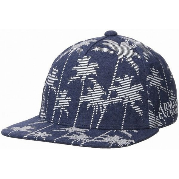 cd756f868 Armani Exchange Blue Palm Printed Snapback 5-Panel Baseball Cap