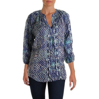 Beach Lunch Lounge Womens Ariel Printed 3/4 Sleeves Blouse