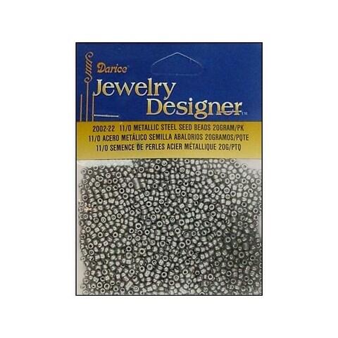 Darice JD Seed Bead 11/0 Metallic Steel