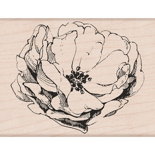 "Hero Arts Mounted Rubber Stamp 4.25""X3.25""-Antique Rose"