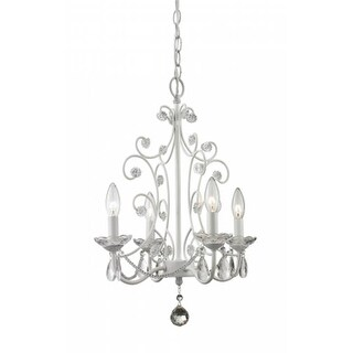 Z-Lite 419WH- 4 Light Mini Chandelier Gloss White Steel