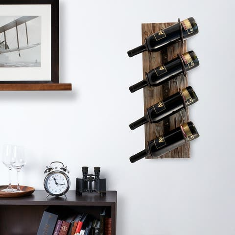 "Metal and Wood Wine Rack by Twine - 8"" x 23.75"""