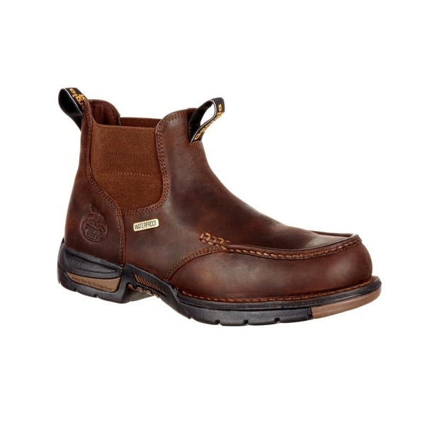 Georgia Boot Work Boots Mens Athens Chelsea WP Leather Brown